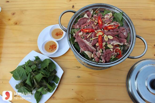 Cách chế biến thịt bê hấp lá tía tô-4
