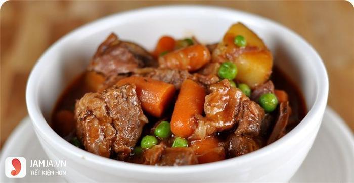 cách làm món thịt cừu hầm khoai tây