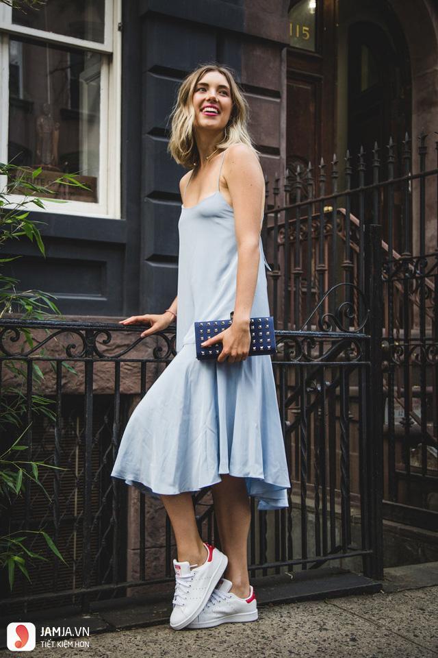 cách kết hợp giày thể thao với váy 15