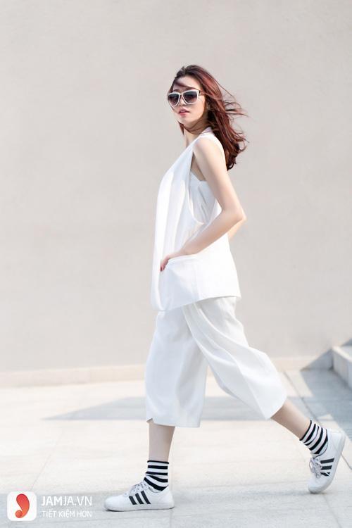 cách kết hợp giày thể thao với váy 20