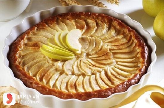 làm bánh táo bằng lò vi sóng
