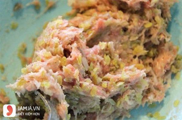 Cách làm bún đậu mắm tôm chả cốm-6