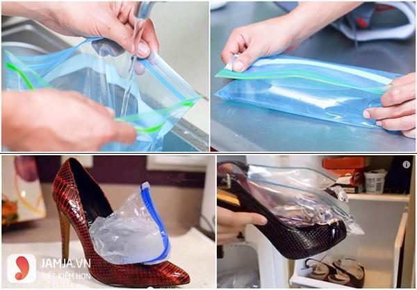 Cách làm rộng giày bằng nước2