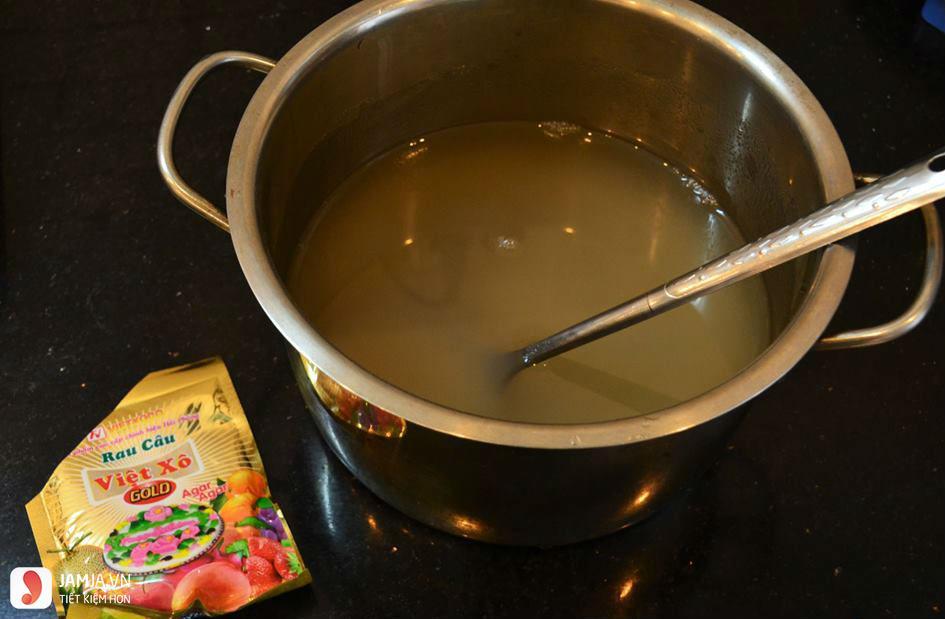 Cách làm tàu hủ bằng bột rau câu với hoa nhài-1