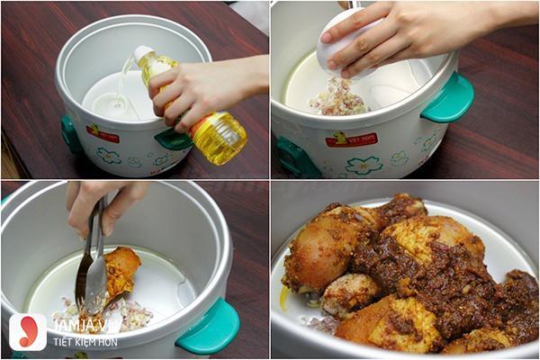 Cách nấu cari vịt nước cốt dừa4