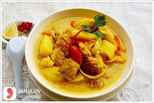 Cách nấu cari vịt nước cốt dừa5
