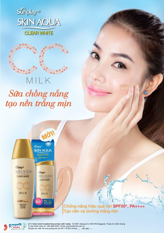 Kem chống nắng Skin Aqua Clear White CC Milk