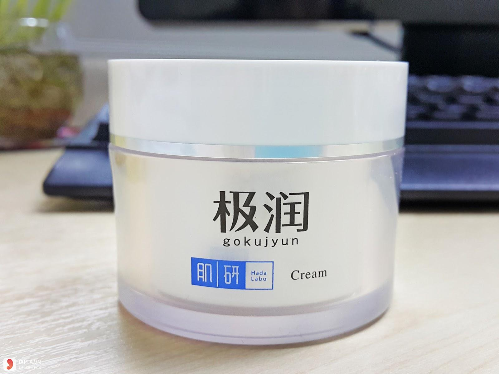 Kem dưỡng ẩm Hada Labo Gokujyun Hyaluronic A xít Moisturizing Cream