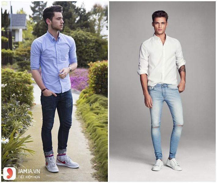 Cách kết hợp giày thể thao với quần áo nam-6