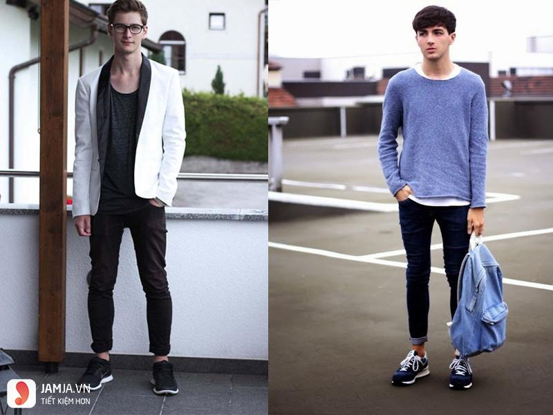 Cách kết hợp giày thể thao với quần áo nam-2