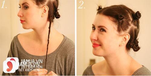 Làm tóc xoăn bằng dây chun