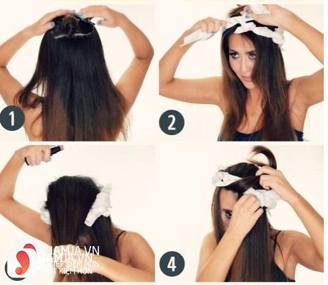 Làm tóc xoăn bằng giấy