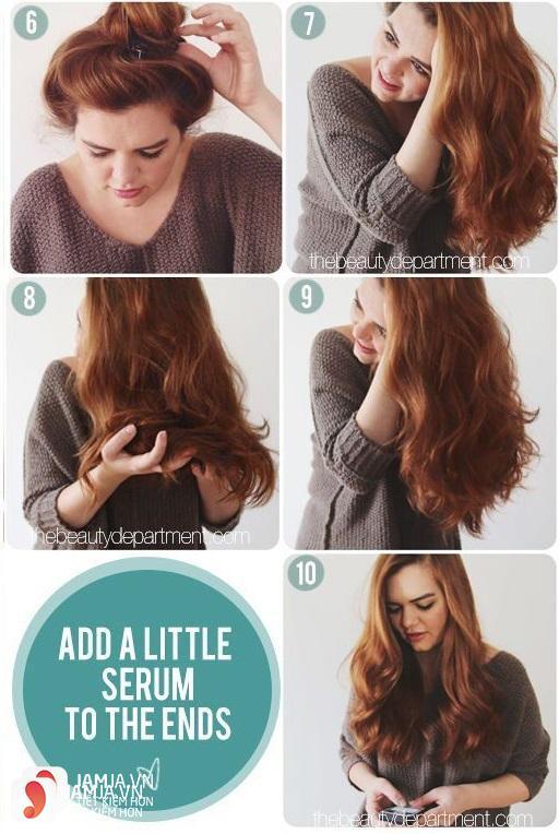 Làm tóc xoăn bằng kẹp càng cua