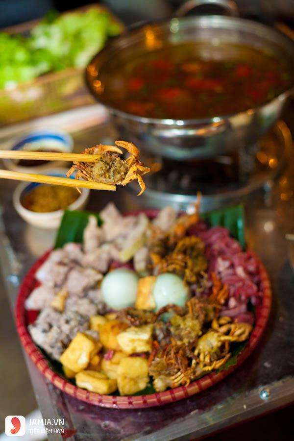 Lẩu cua đồng Hà Nội - Zôm quán2