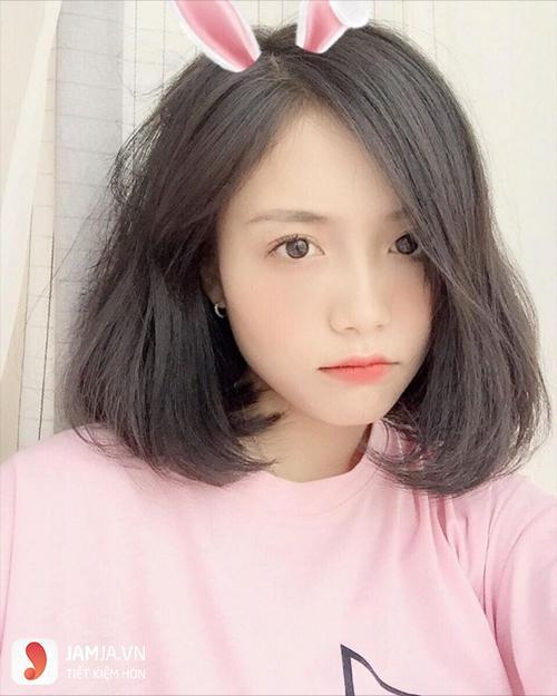mặt tròn cắt tóc ngắn kiểu gì 2