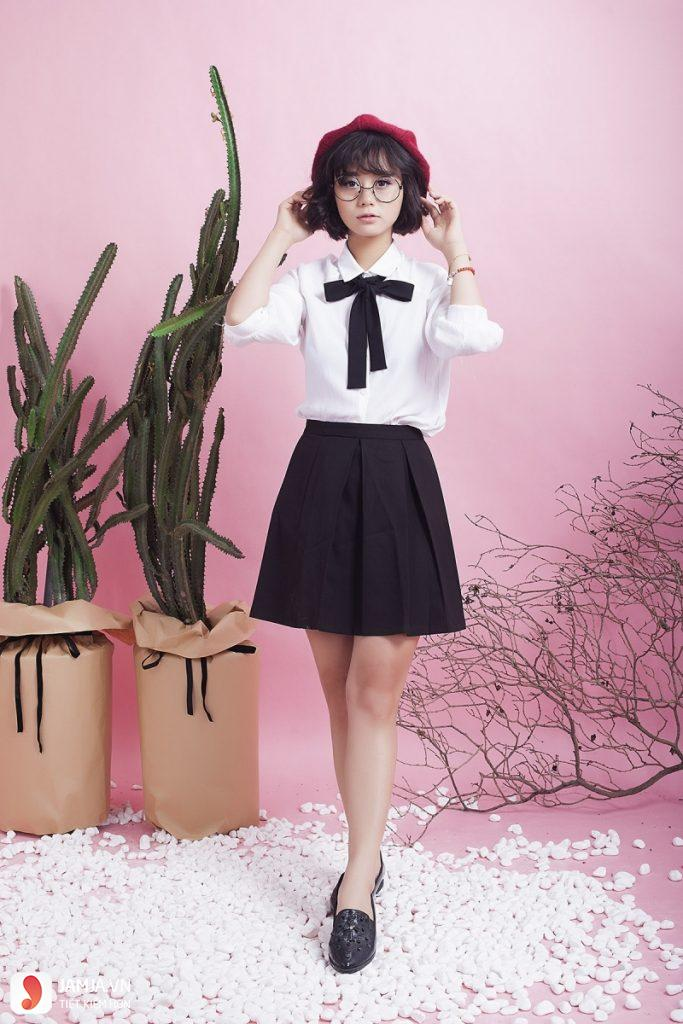 Mẫu áo mặc với chân váy - 5