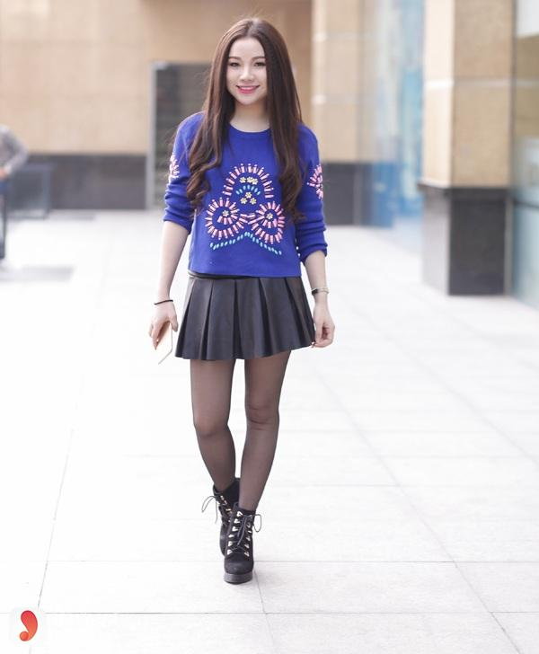 Mẫu áo mặc với chân váy - 8