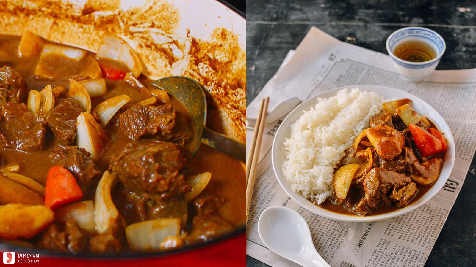 Món cari bò kiểu Ấn Độ