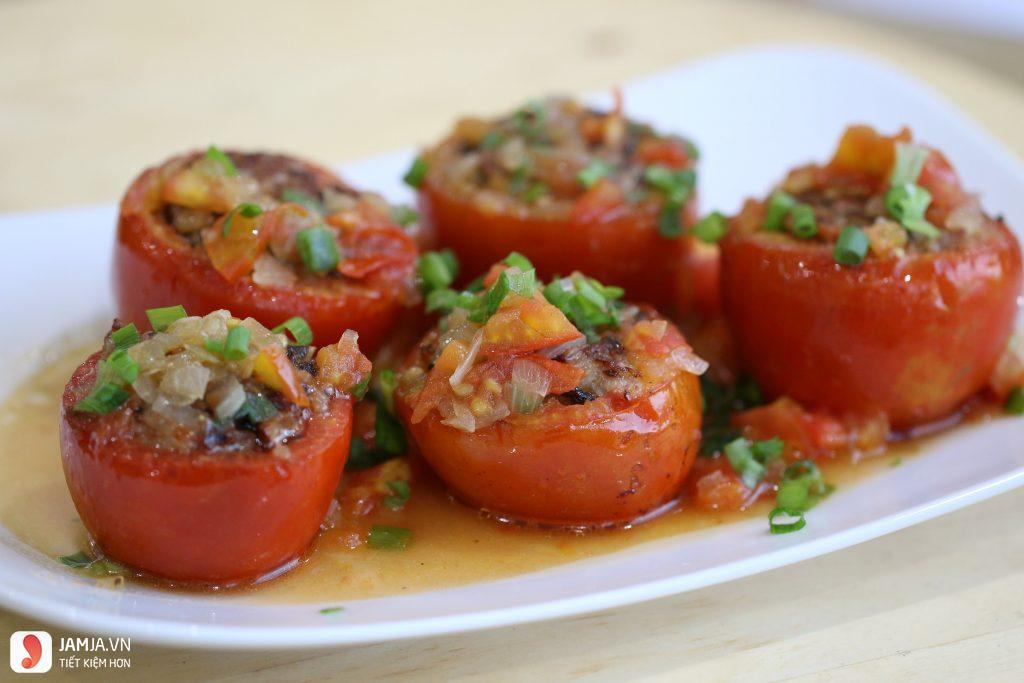 Thịt băm nhồi cà chua