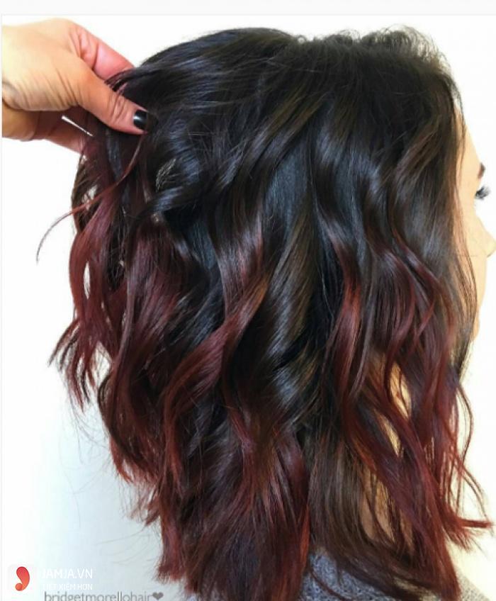 nhuộm highlight cho tóc đen 7