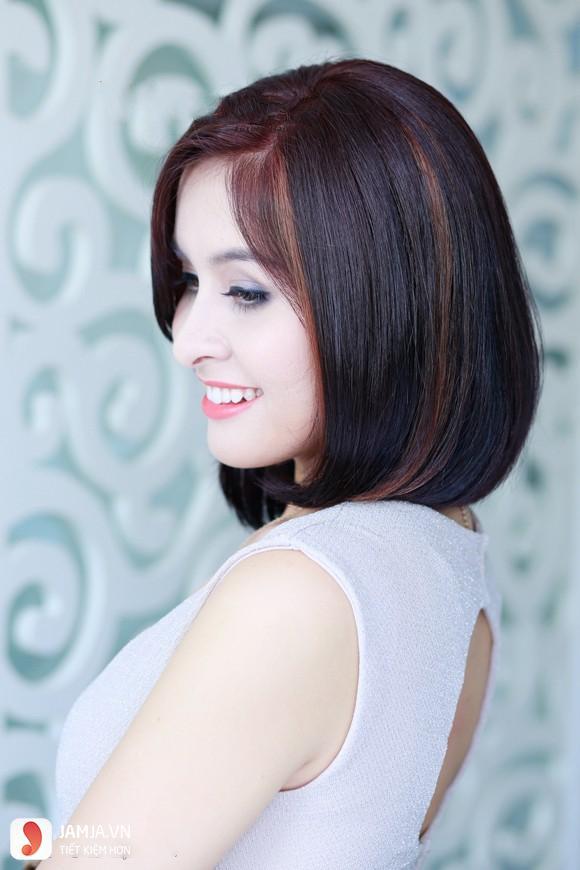 Nhuộm highlight cho tóc ngắn-3