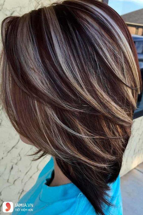Nhuộm highlight cho tóc ngắn-2