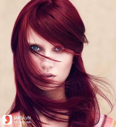 Những kiểu nhuộm tóc màu nâu đỏ ánh tím đẹp5