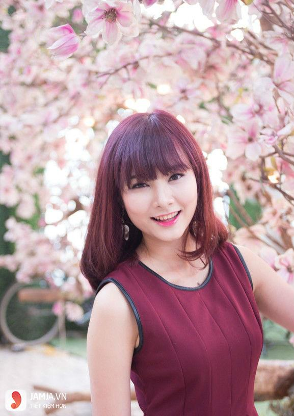 Những kiểu nhuộm tóc màu nâu đỏ ánh tím đẹp6