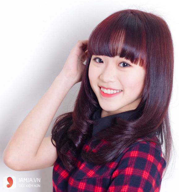 Những kiểu nhuộm tóc màu nâu đỏ ánh tím đẹp2