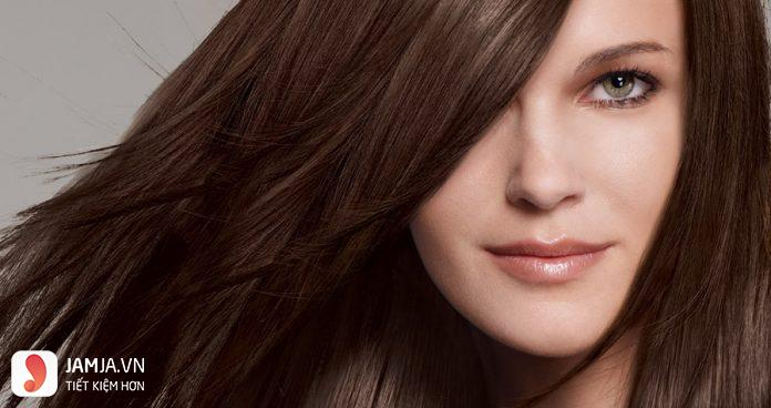 Nhuộm tóc màu nâu hạt dẻ sáng