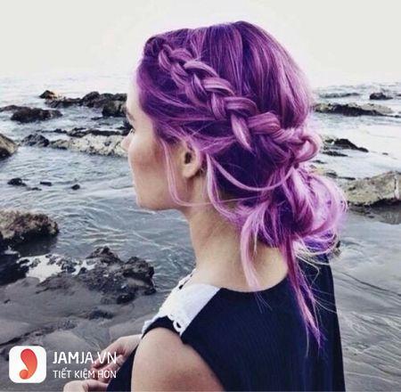 nhuộm tóc màu tím trầm4