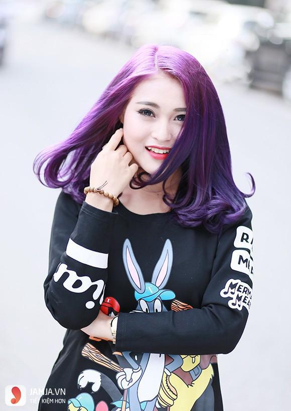 nhuộm tóc màu tím trầm3