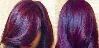 nhuộm tóc tự nhiên màu tím