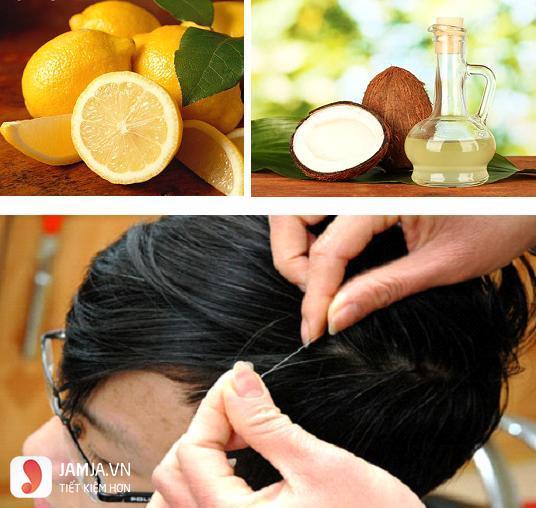 Nhuộm tóc vàng cùng chanh và dầu dừa-2
