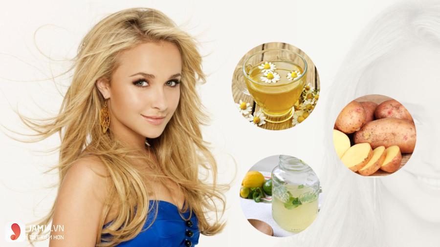 Nhuộm tóc vàng với trà hoa cúc-2