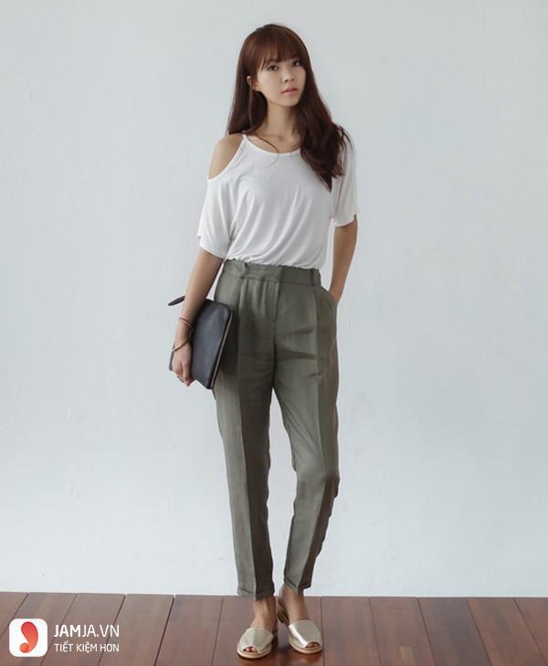 quần baggy jeans Mix với áo thun-2