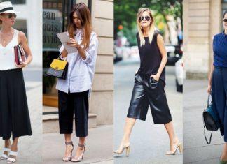 quần culottes mặc với áo gì 12