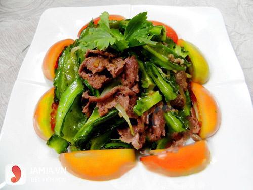 Thịt bò xào đậu rồng -thực đơn trong tuần miền Nam