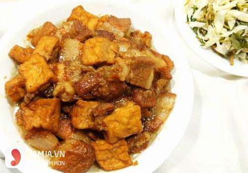 Thịt đậu kho tương-Thực đơn trong tuần miền Nam