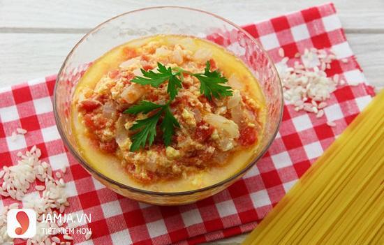 Canh trứng cà chua-thực đơn trong tuần người miền Nam