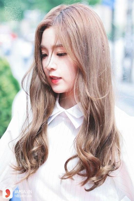 tóc màu nâu caramel 11