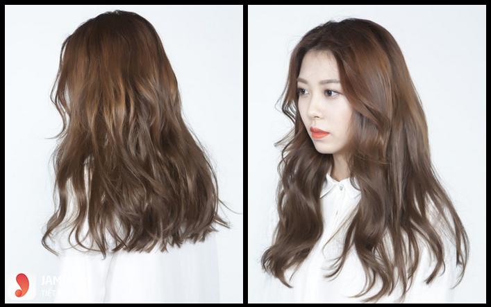 tóc màu nâu caramel 13