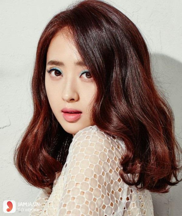 tóc màu nâu caramel 14