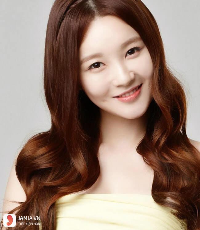 tóc màu nâu caramel 23