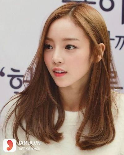 tóc màu nâu caramel 3