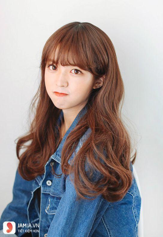 tóc màu nâu caramel 4