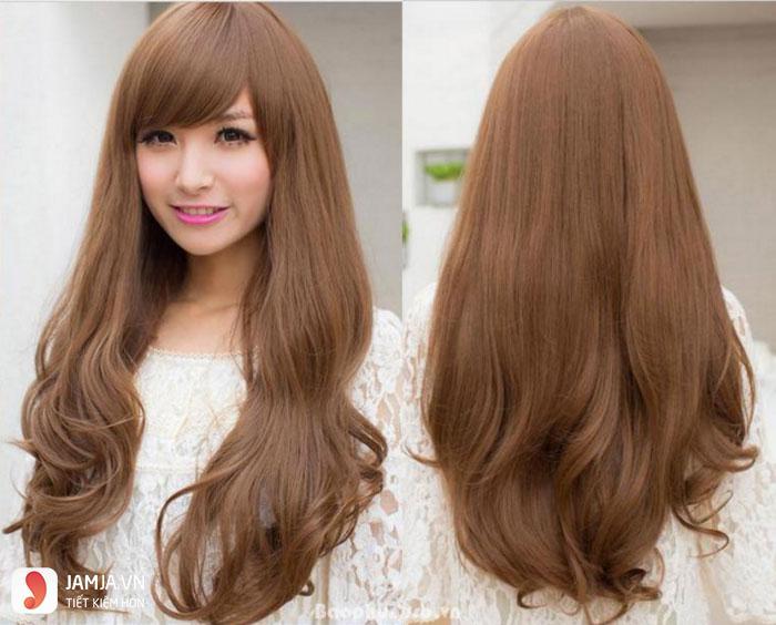 tóc màu nâu caramel 5