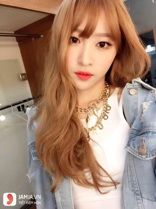 tóc màu nâu caramel 6