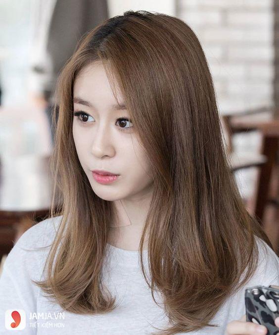 tóc màu nâu caramel 7
