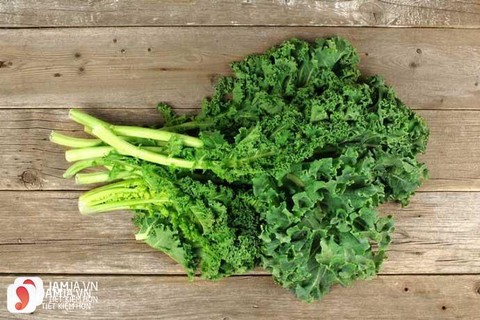 vitamin a trong cải lá xoăn